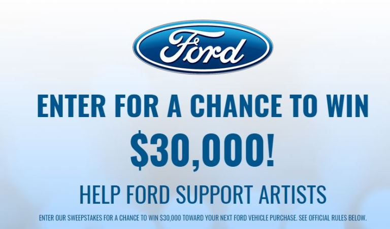 Win $30000 for Ford vehicle – BYG Ford Sweepstakes