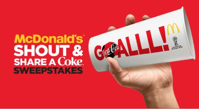 Win Trip to FIFA World Cup – McDonald's Coke Shout and Share Sweepstakes