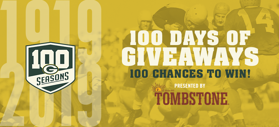 Green Bay Packers 100 Days of Giveaways – Win $500 Voucher