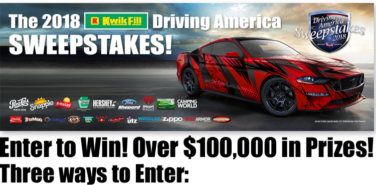 Win $300,000 Prize – Driving America Sweepstakes – Kwik Fill