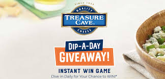 Treasure Cave Cheese Dip a Day Instant Win Game – Win $2,699 Prize