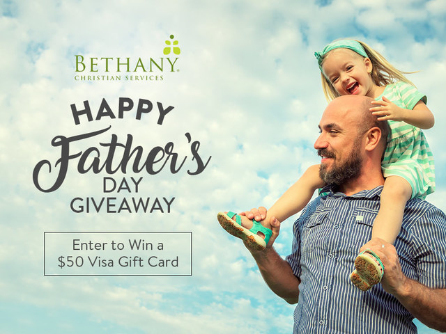 WXYZ Bethany Christian Services Fathers Day Giveaway – Win $50 Visa Gift Card