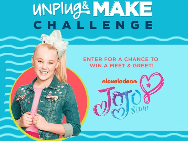 Michaels Unplug and MAKE Sweepstakes – Win Chance To Meet JoJo