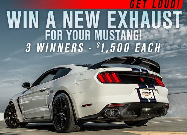 Americanmuscle Get Loud Mustang Exhaust Giveaway – Win Ford Mustang Exhaust