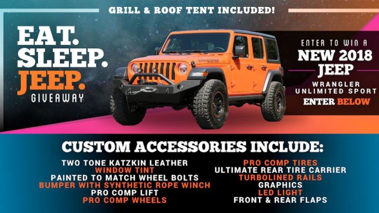 Dave Smith Motors EAT SLEEP JEEP Contest – Win Jeep Wrangler JL