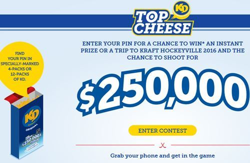 KD Top Cheese Contest – Win A Trip to attend Kraft Hockeyville