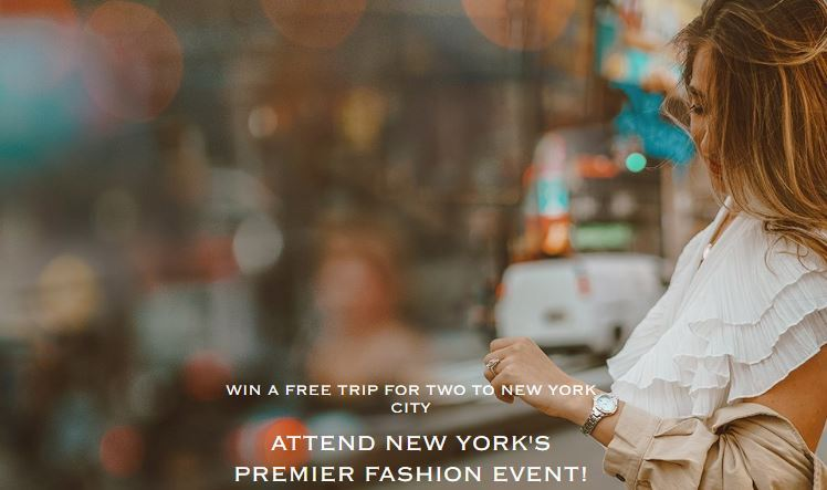 Seiko Fashion Week Contest 2018 – Win A Trip to New York City