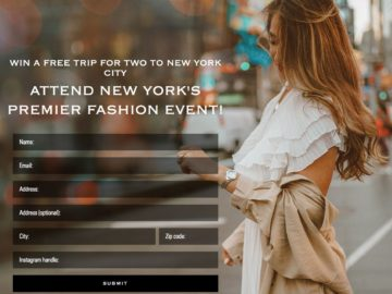 Seiko Fashion Week Contest – Win 2 passes to New York Fashion Week