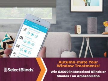 Select Blinds Autumn-mate Your Windows Contest – Win $2,500 of Motorized Window Treatments