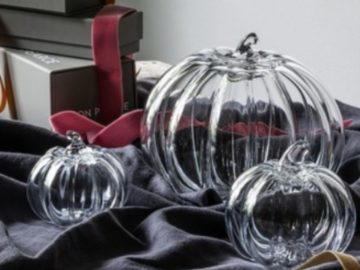 Simon Pearce Glass Pumpkin Giveaway – Win Four Glass Pumpkins