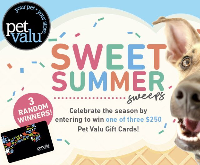 Sweet Summer Sweepstakes – Win a $250 Gift Card