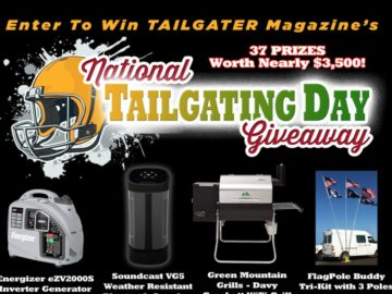 Tailgater Magazine National Tailgating Day Giveaway – Win a Tailgating Prize Pack