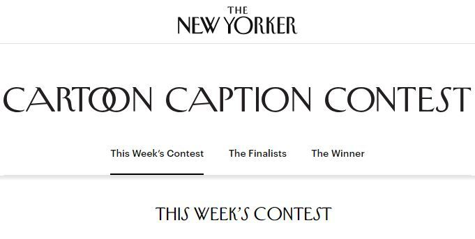 The New Yorker Cartoon Caption Contest 2018 – Win Name Printed In The Magazine
