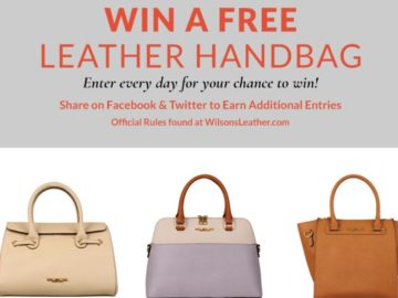 Wilsons Leather Win a Leather Handbag Giveaway – Win a Leather Handbag