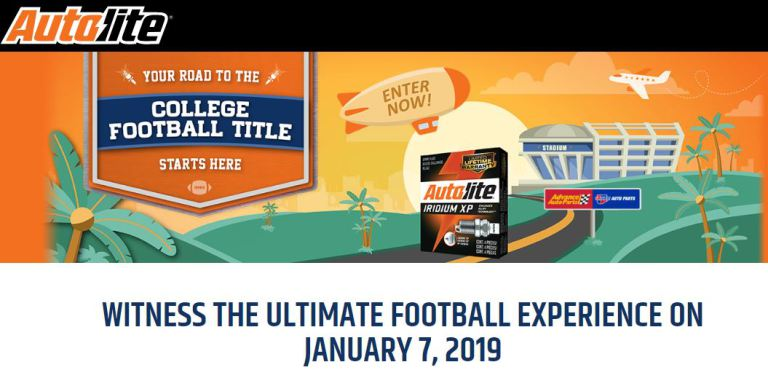Autolite Ultimate Football Experience Sweepstakes – Win A Trip to Santa Clara, California