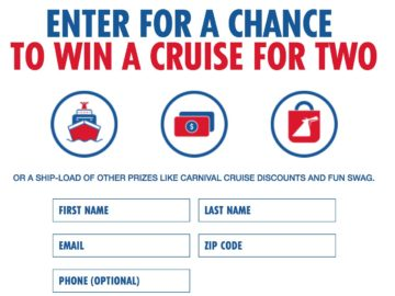 Carnival AirShip Sweepstakes – Win a Carnival Cruise