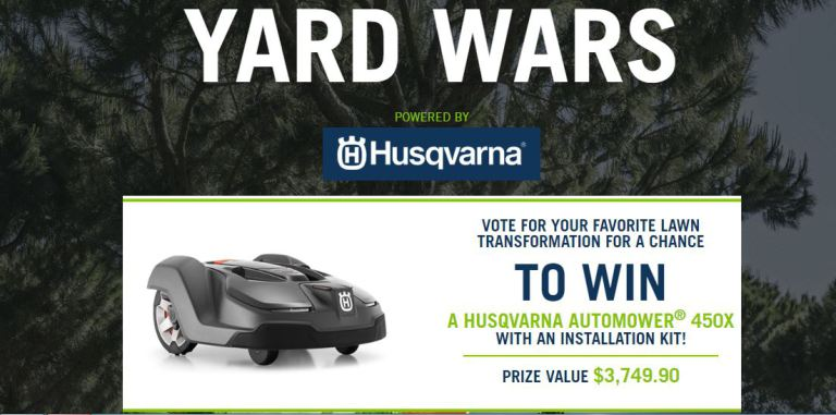 Husqvarna Yard Wars Sweepstakes 2018 – Win Husqvarna Automower 450X