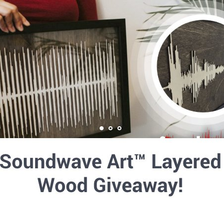 Layered Wood Giveaway – Win $344.98 A Layered Wood Custom Art Piece