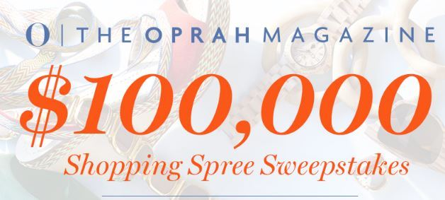 Oprah Shopping Spree Sweepstakes 2018 – Win $1,00,000 Cash Prizes