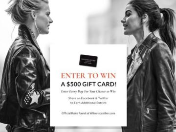 Wilsons Leather Gift Card Sweepstakes – Win a $500 Wilsons Leather Gift Card