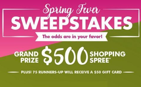 Dollar Tree Engage Spring Fever Sweepstakes-Win $500 Dollar Tree gift card