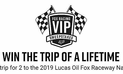 Fox Racing Vip Experience Sweepstakes-Win A lifetime trip