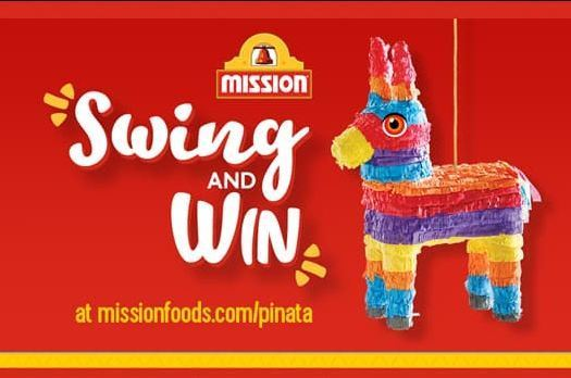 Mission Foods Pinata Sweepstakes- Win an Instant Game