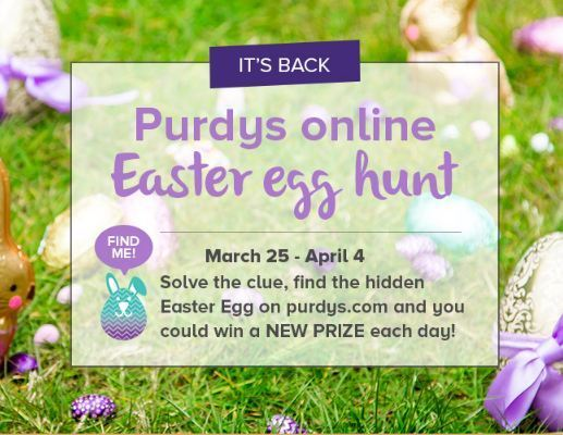 Purdys Online Easter Egg Hunt Contest-Win a new prize each day
