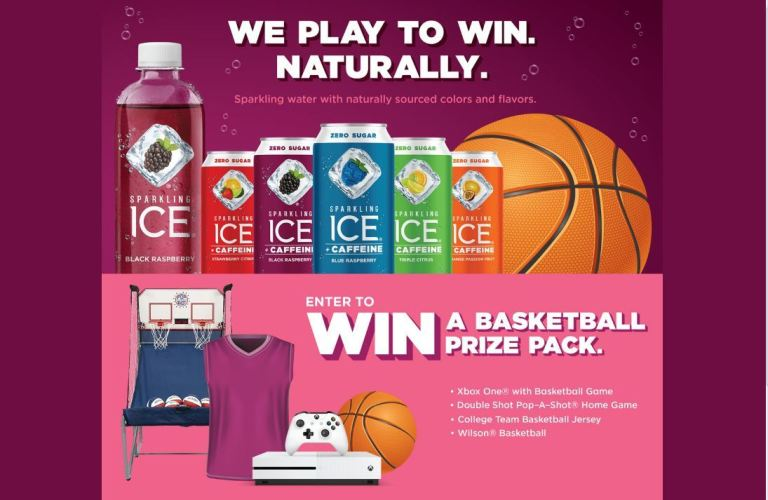 Sparkling Ice Game Sweepstakes-win Basketball Prize Package
