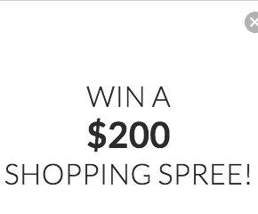 $200 Shopping Spree Sweepstakes -