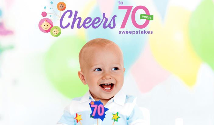 Cheers to 70 Years Sweepstakes 2018