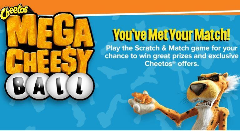 Cheetos Mega Cheesy Ball Scratch and Match Sweepstakes