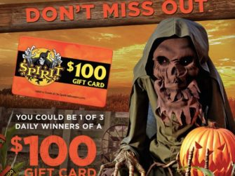 Spirit Halloween's Carnival of Cash Gift Card Giveaway