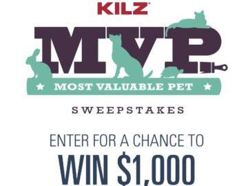 KILZ Most Valuable Pet Sweepstakes