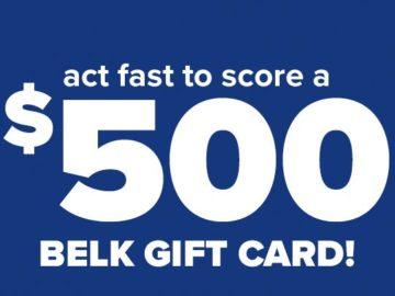 Belk Gift Card Giveaway