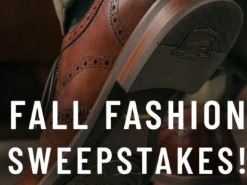 Florsheim Shoes Fall Fashion Sweepstakes