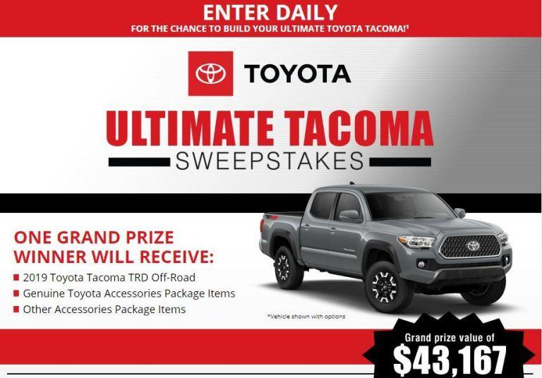 Bassmaster Ultimate Toyota Tacoma Sweepstakes