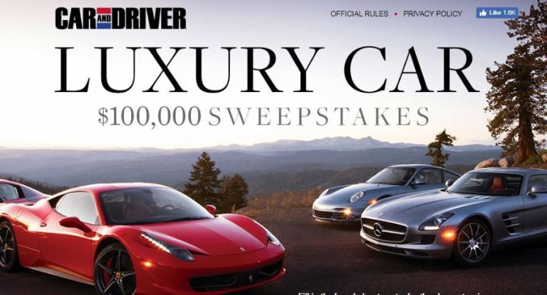 Caranddriver.com Dream Big Sweepstakes