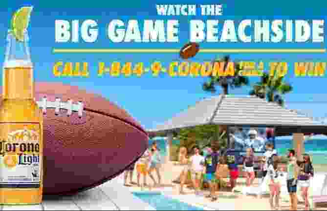 Corona Find Your Gameday Beach Sweepstakes and Instant Win Game