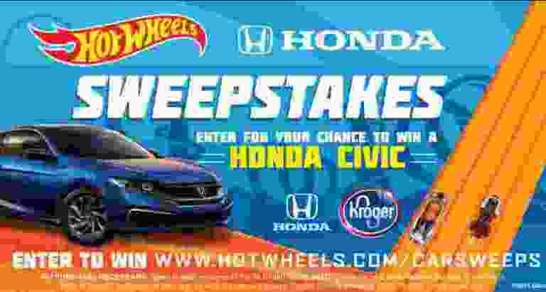 Hot Wheels Kroger Honda Civic Sweepstakes 2019