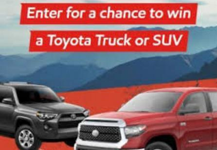 O' Reilly Toyota Truck or SUV Giveaway (apfco.com)
