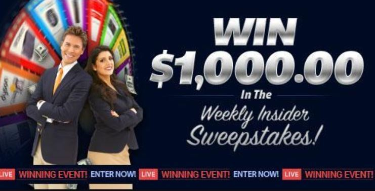 PCH $1,000 Weekly Insider Giveaway