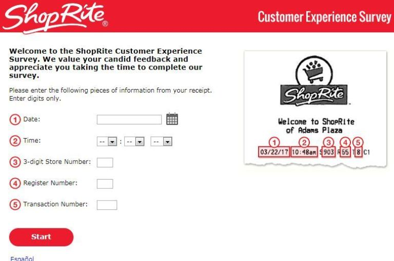 ShopRite Customer Experience Survey Sweepstakes
