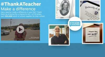 Staples Thank A Teacher Sweepstakes