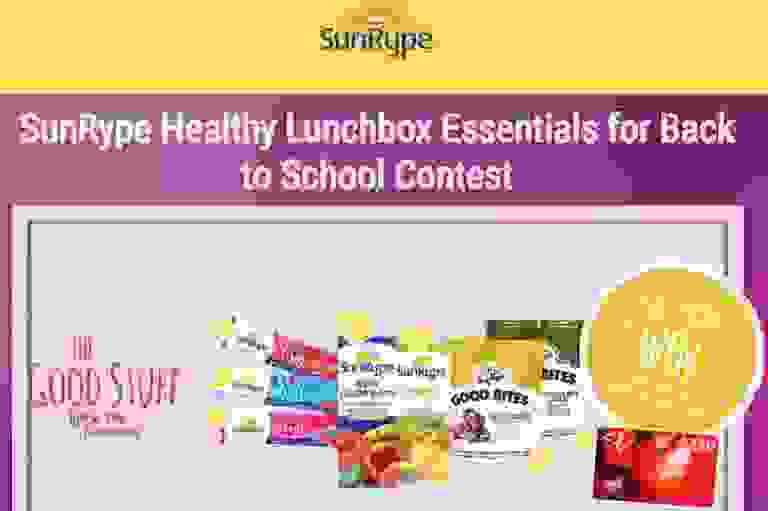 SunRype Healthy Lunchbox Essentials for Back to School Contest