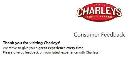 Tell Charleys Consumer Feedback Survey Sweepstakes
