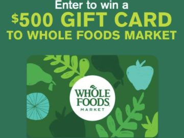 Win a $500 Whole Foods Market Gift Card From Amazing Grass Sweepstakes