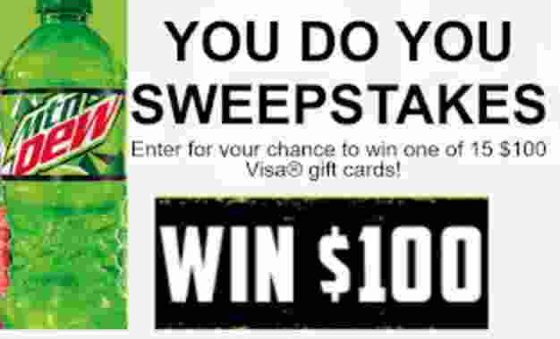 Mountain Dew You DO You Sweepstakes