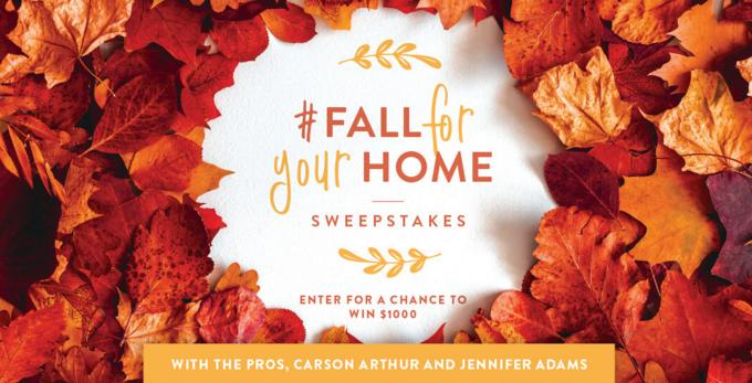 BHG Fall For Your Home Sweepstakes – Win Grand Prize Package