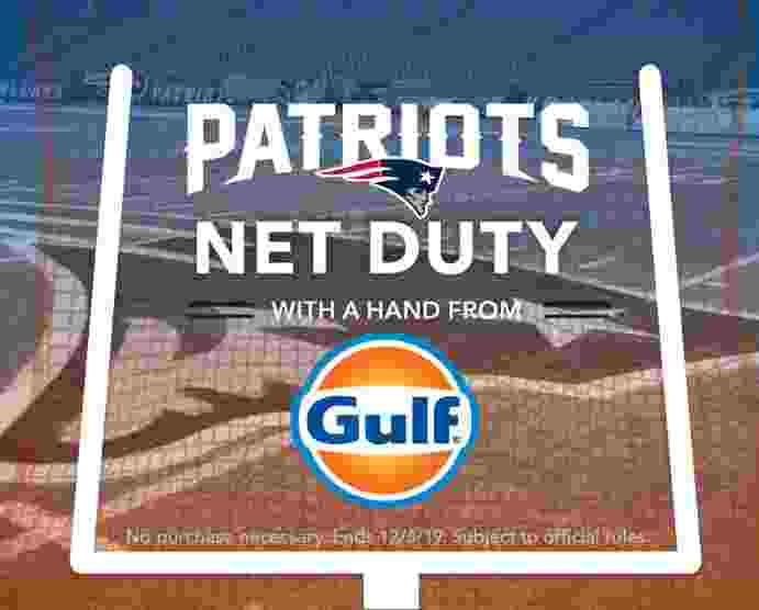 Patriots Net Duty with A Hand from Gulf Sweepstakes